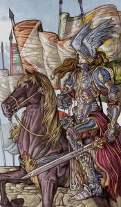 Таро Царство Фэнтези изображение Рыцарь Мечей