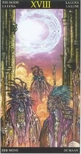 Таро Царство Фэнтези аркан 18 Луна