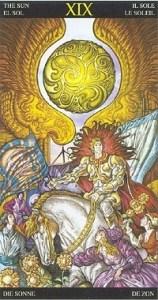 Таро Царство Фэнтези аркан 19 Солнце