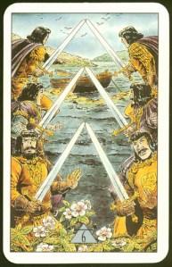 Таро Зеркало Судьбы изображение аркана 6 Мечей