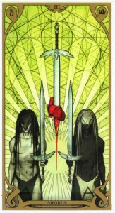 3 мечей Таро Ночного Солнца