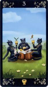 3 Кубков Таро Черных Котов