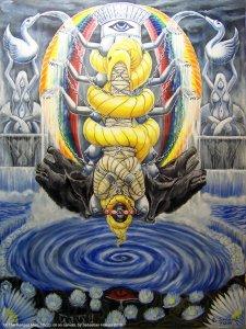 Аркан 12 Повешенный The Golden Serpent Tarot