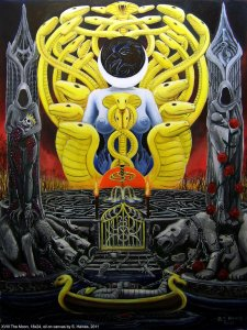 Аркан 18 Луна The Golden Serpent Tarot