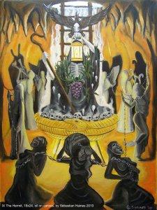 Аркан 9 Отшельник The Golden Serpent Tarot
