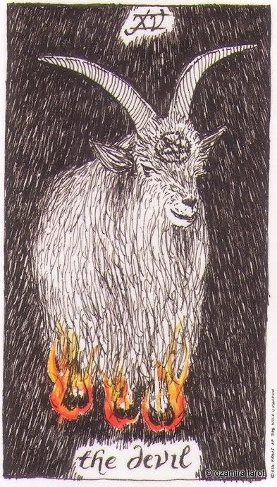 Старший Аркан Дьявол Дикое Неизвестное Таро