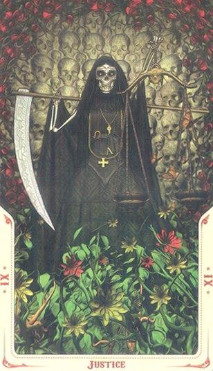 11 Справедливость (Justice) Таро святой смерти (Santa Muerte Tarot)