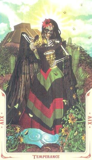 14 Умеренность (Temperance) Таро святой смерти (Santa Muerte Tarot)