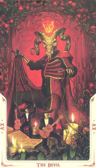 15 Диавол (The Devil) Таро святой смерти (Santa Muerte Tarot)