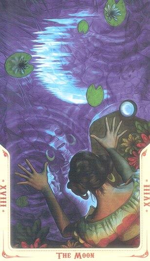 18 Луна (The Moon) Таро святой смерти (Santa Muerte Tarot)