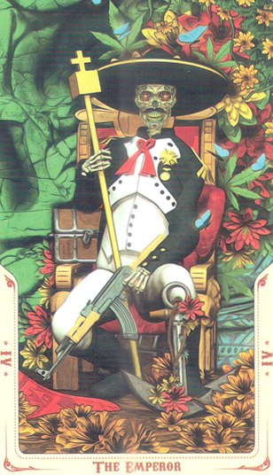 4 Император (The Emperor) Таро святой смерти (Santa Muerte Tarot)