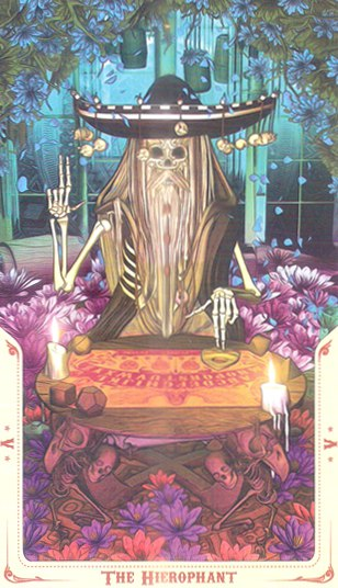 5 Жрец (The Hierophant) Таро святой смерти (Santa Muerte Tarot)