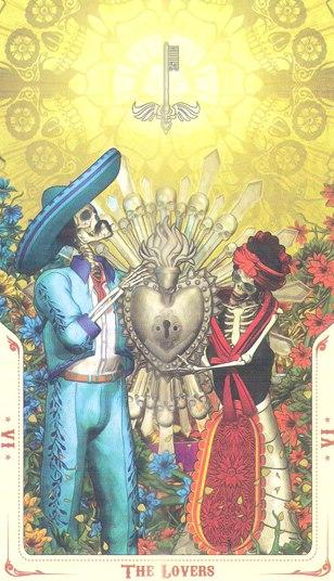 6 Влюбленные (The Lovers) Таро святой смерти (Santa Muerte Tarot)