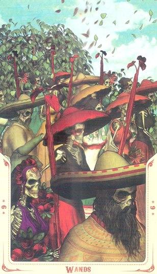 6 Жезлов Таро святой смерти (Santa Muerte Tarot)