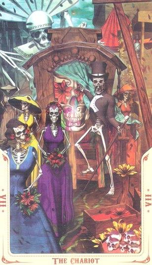 7 Колесница (The Chariot) Таро святой смерти (Santa Muerte Tarot)