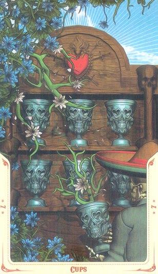 7 Кубков Таро святой смерти (Santa Muerte Tarot)