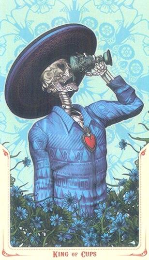 король Кубков Таро святой смерти (Santa Muerte Tarot)