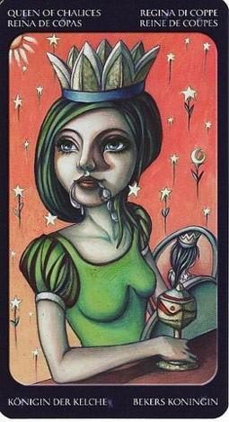 королева Кубков Таро Сладкие Сумерки (Tarot of the Sweet Twilight)