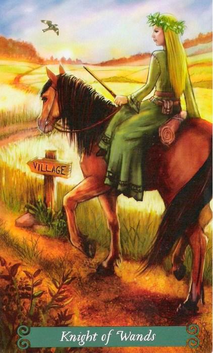Рыцарь жезлов Таро Зеленой Ведьмы The-Green- жезловitch-Tarot