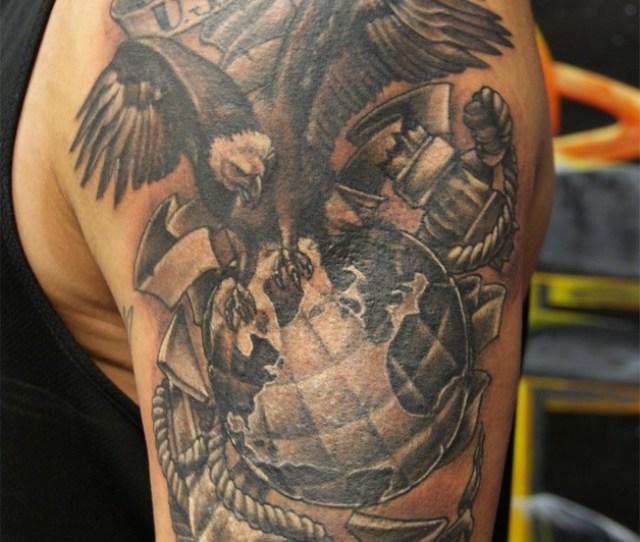 Eagle Globe Anchor Army Tattoo Designs Photo