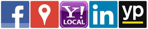 Local business listings on Facebook, Google, Yahoo and Yext, LinkedIn, and Yellow Pages