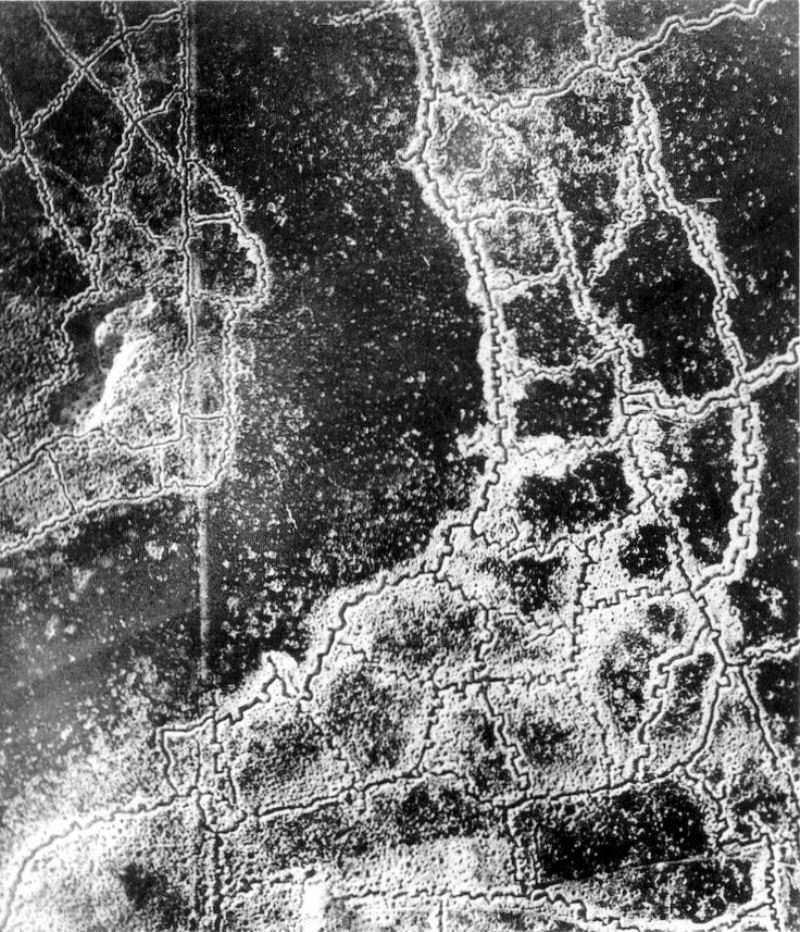 World War 1 Trenches Aerial Photograph