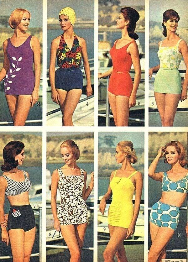Moda di Swimwear degli anni '60