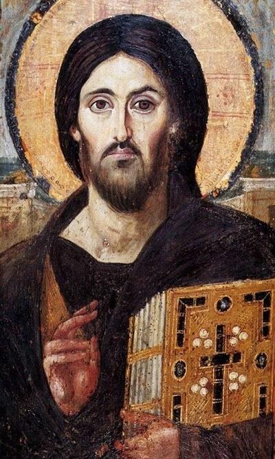 White Jesus Sinai Portrait