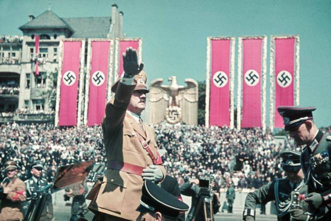 Color Hitler Salute Eagle Banners
