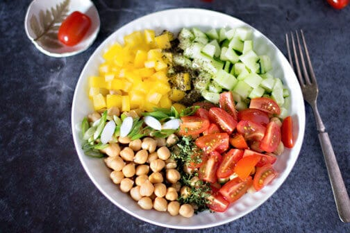 Quick and easy vegan chickpea salad | All that's Jas