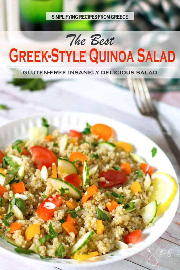 The best greek style quinoa salad all thats jas insanely delicious easy to make and affordable best greek quinoa salad forumfinder Image collections