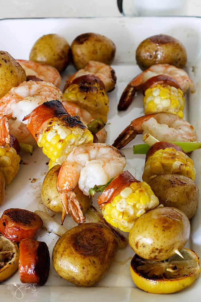 low country shrimp boil grilled