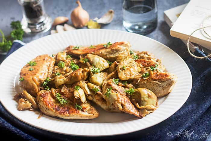 Italian Chicken with Artichoke Sauce - All that's Jas