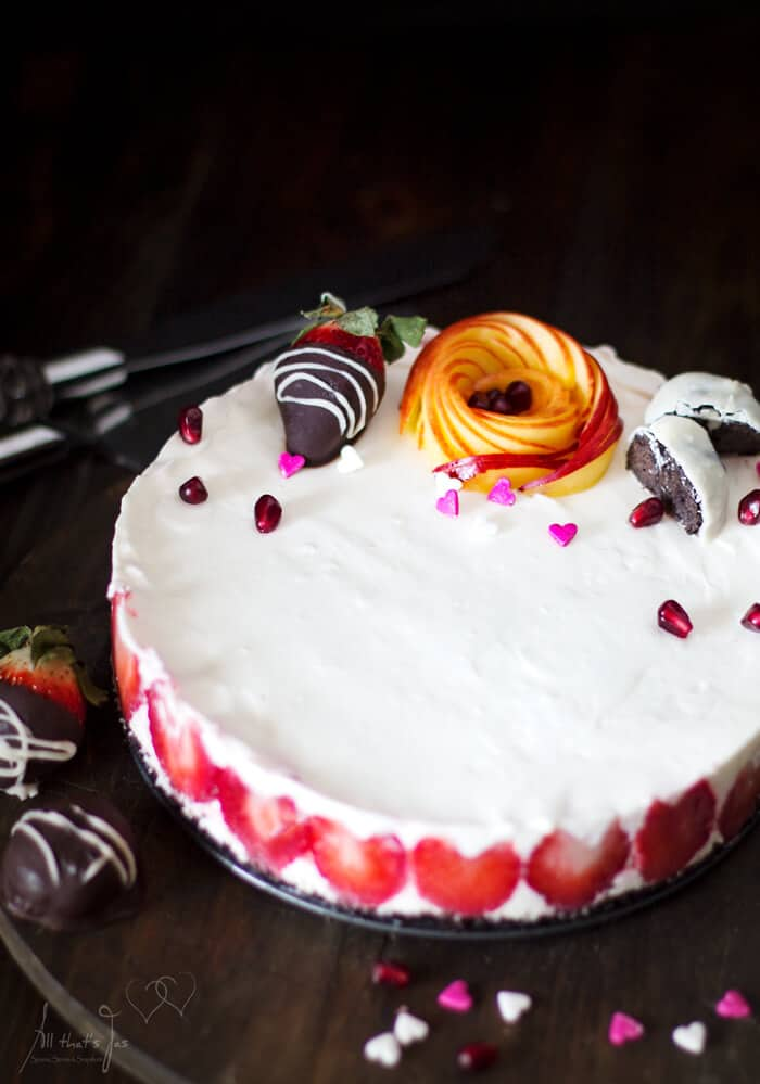 Delicious rare cheesecake
