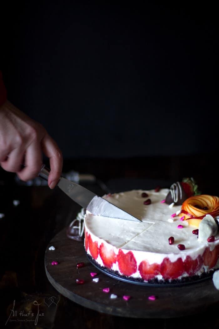 Valentine's Day treat- rare cheesecake