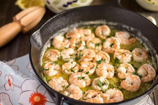 15-minute Spanish Garlic Shrimp Tapa
