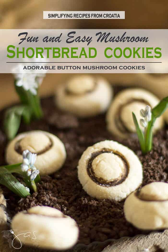 Adorable Shortbread Mushroom Cookies