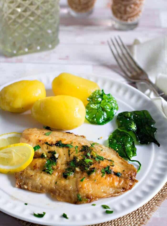 quick and simple white fish recipe, Belgian style