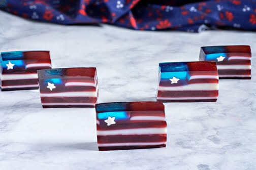 Red White and Blue Jello Flag