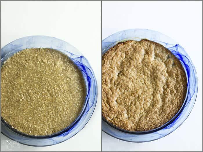 Swedish Apple and Oatmeal Pie