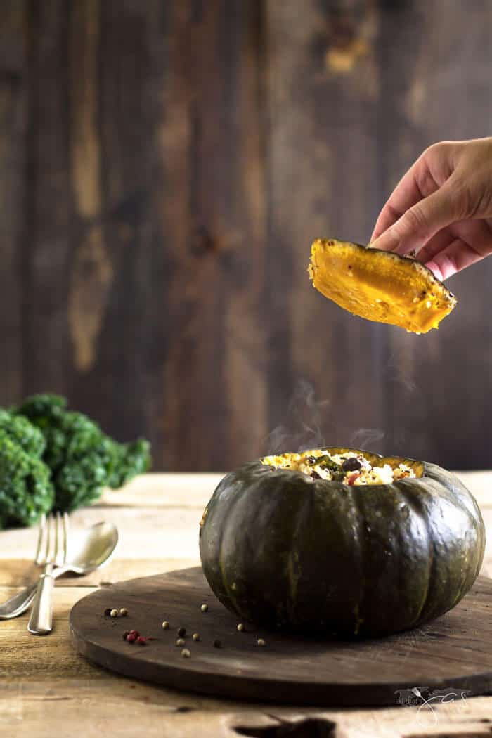 roasted stuffed buttercup squash