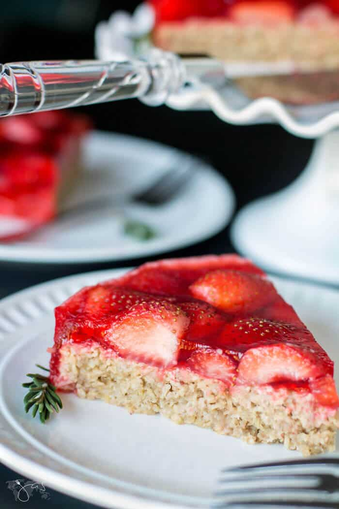Gluten free oatmeal strawberry cake