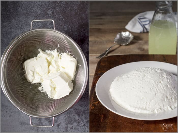 making of fresh farmer's cheese