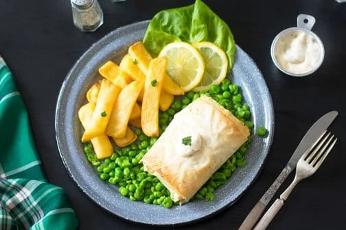 Irish Fillo Pastry Fish and Chips | All that's Jas
