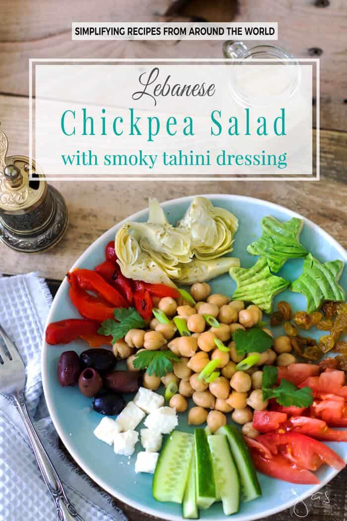 Lebanese Chickpea Salad with Smoked Tahini Dressing