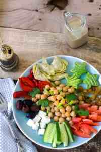 Lebanese chickpea salad with smoky tahini dressing recipe