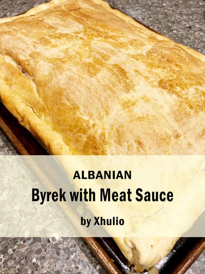 Meat byrek from Albania