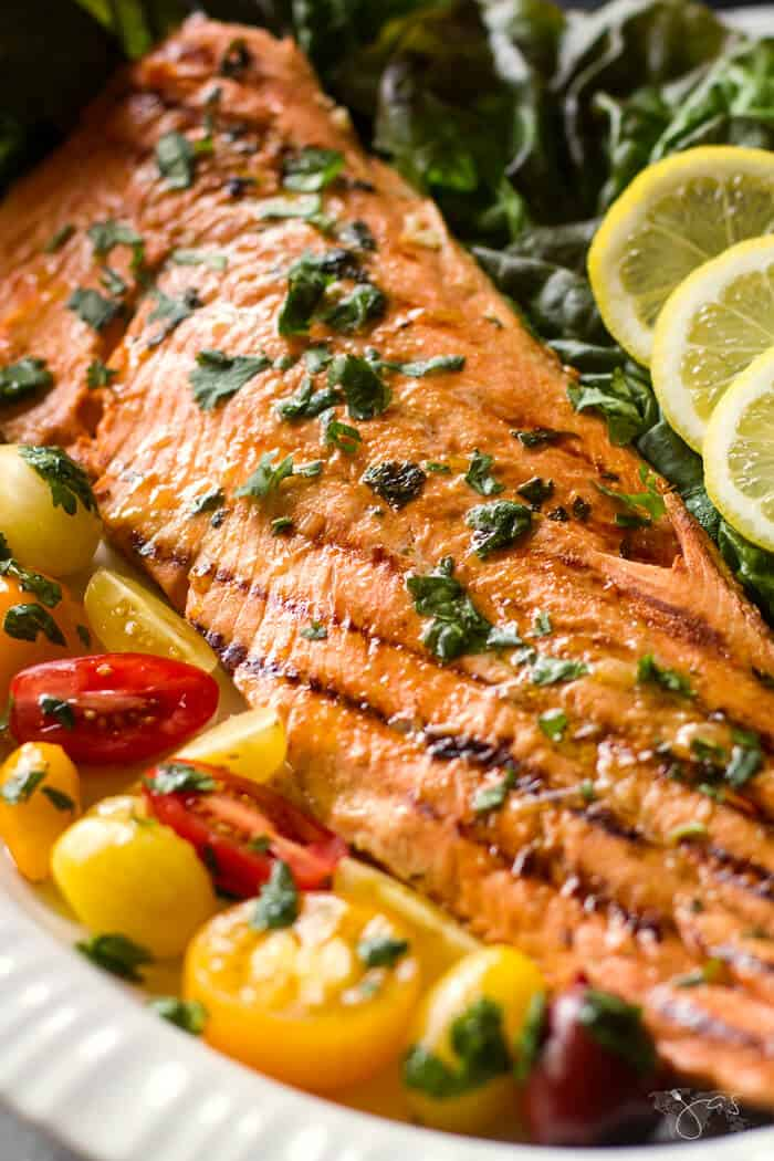 Cuban salmon fresh from the grill