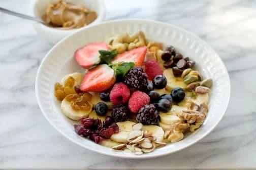 Fruit & Nuts Monkey Breakfast Bowl | All that's Jas