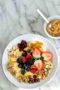 Fruit & Nuts Monkey Breakfast Bowl